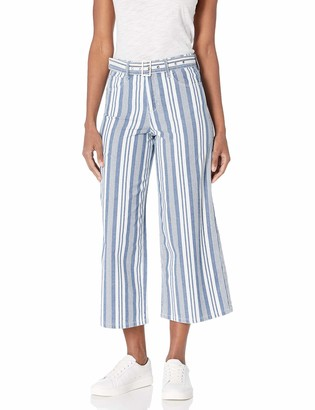 Skinnygirl Women's Misses Barry High Rise Wide Leg Cropped Jean