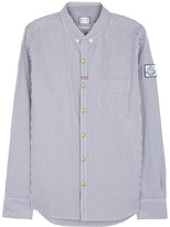 Moncler Gamme Bleu Blue Striped Cotton Shirt