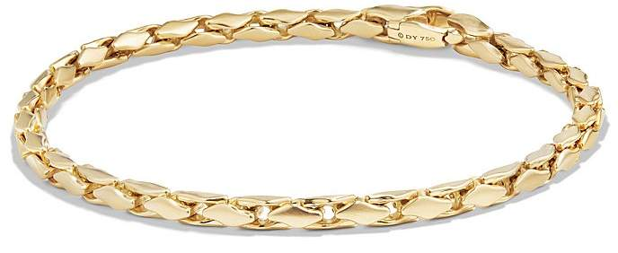 David Yurman Small Fluted Chain Bracelet in 18K Gold