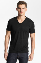 John Varvatos Men's Collection V-Neck Linen T-Shirt