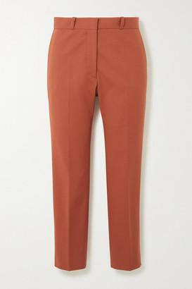 Joseph Bing Cropped Stretch-cotton Tapered Pants - Brick