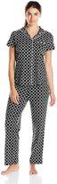 Nautica Sleepwear Women's Knit Print Pant Pajama Set