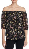 1 STATE 1.STATE Floral Print Off-The-Shoulder Blouse