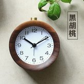 Clocks CC Creative bedroom solid wood bedside clock mute alarm clock snooze when the idle man luminous little alarm clock