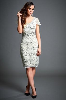 Linzi Jywal London Silvia Embellished Short Flapper Dress
