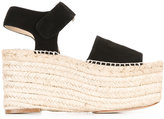 Paloma Barceló wedge sandals - women - Raffia/Leather/Suede - 36