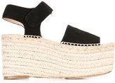 Paloma Barceló wedge sandals - women - Raffia/Leather/Suede - 38