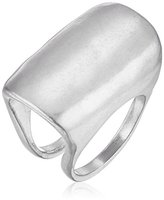 "Robert Lee Morris It's Ringing"" Sculptural Silver Ring, Size 7.5"