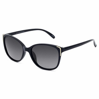 Face Shadow Cat Eye Sunglasses for Women Polarized Fashion Metal Decoration Ultralight UV400 Protection Gradient Brown