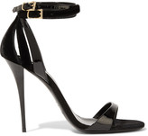 Balmain Patent-leather and velvet sandals