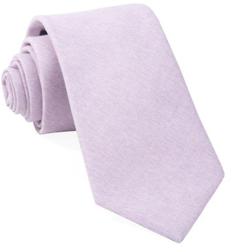 Tie Bar Sunset Solid Lavender Tie