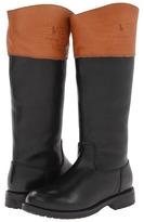 Ralph Lauren Kids - Proprietor Riding Boot (Little Kid/Big Kid) (Black Leather) - Footwear
