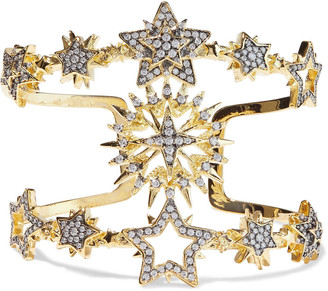Noir Do You Believe In Magic 14-karat Gold-plated Crystal Cuff