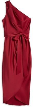Ted Baker Gabie One Shoulder Drape Midi Dress