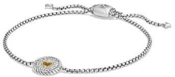 David Yurman Cable Collectibles Heart Charm Bracelet With Diamonds
