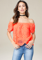 Bebe Eliza Off Shoulder Top