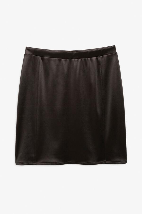 Monki Mini satin skirt