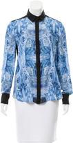 Prabal Gurung Silk Button-Up Top
