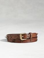 John Varvatos Artisan Stitched Strip Belt