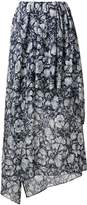 Christian Wijnants layered asymmetric skirt