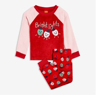 Joe Fresh Toddler Girls' 2 Piece Fleece Sleep Set, Red (Size 2)