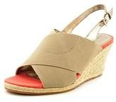 Tahari Wanda Women Open Toe Synthetic Wedge Sandal.