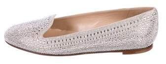 Valentino Stud Embellished Suede Loafers