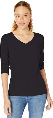 Amazon Essentials Women's Classic-Fit 3/4 Sleeve V-Neck T-Shirt