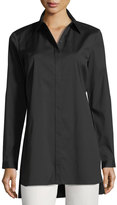 Lafayette 148 New York Casey Button-Front Long-Sleeve Top