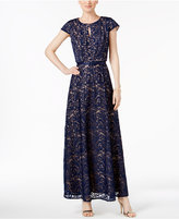 Alex Evenings Petite Embroidered A-Line Gown