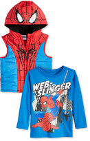 Nannette Little Boys' 2-Pc. Super-Man Vest & Long-Sleeve T-Shirt Set
