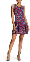 Splendid Kloe Paisley Print Skater Dress