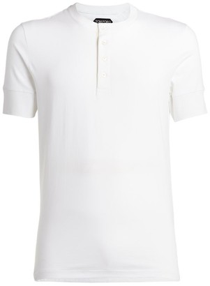 Tom Ford Ribbed Henley T-Shirt
