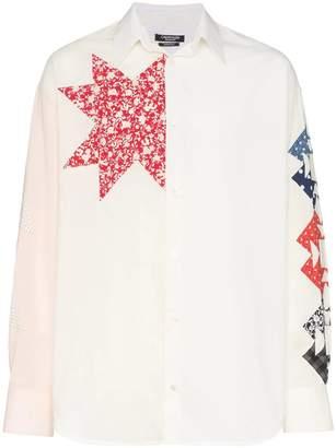 Calvin Klein triangle embroidered cotton shirt