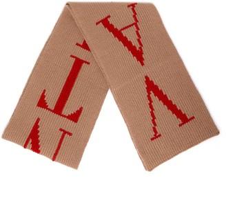 Valentino Logo Knit Scarf