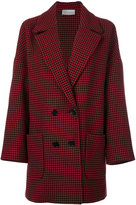 RED Valentino houndstooth coat - women - Polyester/Acetate/Wool/water - 38