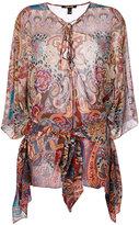 Roberto Cavalli patterned top - women - Silk - 40