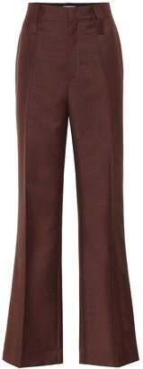 Prada Mohair and wool flared pants