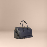 Burberry London Leather Holdall, Blue