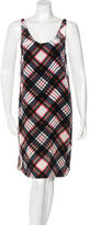 Dries Van Noten Silk-Blend Plaid Dress
