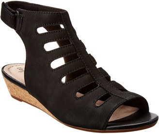 Clarks Abigail Sing Suede Wedge Sandal