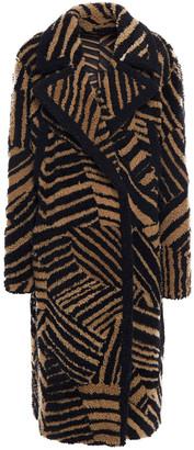 Yves Salomon Tiger-print Shearling Coat