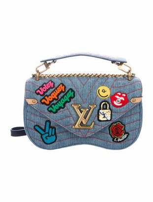 Louis Vuitton 2018 New Wave Chain Bag MM blue