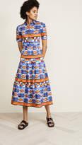 Stella Jean Button Down Print Dress