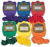 Champion Water-Resistant Stopwatches, 1/100 Second, Assorted Colors, 6/Box