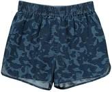 Stella McCartney Coralle Camouflage Chambray Shorts