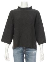 360 CASHMERE Shani Crop Sleeve Mock Sweater