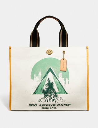 Coach Tote 40 With Big Apple Camp Print