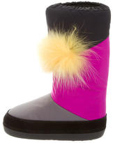 Fendi Fox Fur-Accented Monster Snow Boots