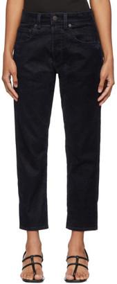 6397 Navy Velvet Short Jeans